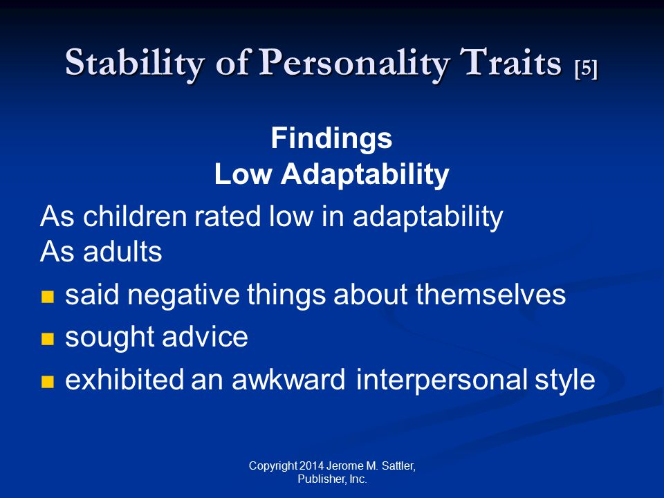 Stability of Personality Traits [5]